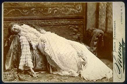 Sarah Bernhardt por Sarony