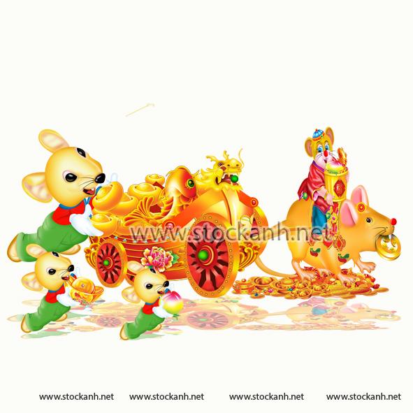 Chuột kéo xe vàng