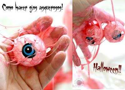Como hacer ojos repugnantes para Halloween