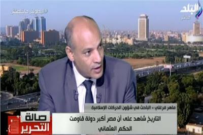 ماهر فرغلى, مخطط تركى ايرانى, استهداف الدولة المصرية, مصر, تركيا, ايران,