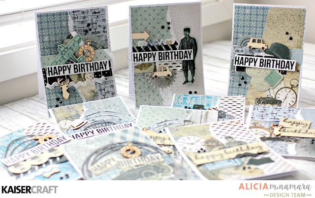 Kaisercraft Barber Shoppe Quick Ten male Birthday Cards by Alicia McNamara