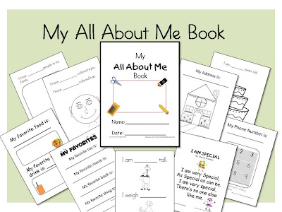It is a graphic of All About Me Book Preschool Printable throughout theme
