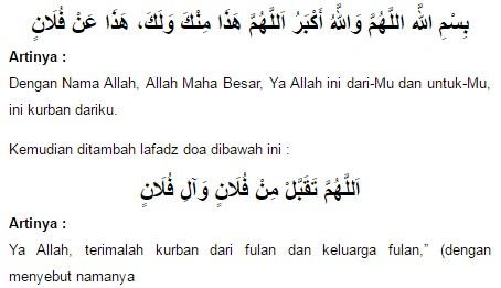 Doa Menyembelih Hewan Qurban Saat Idul Adha