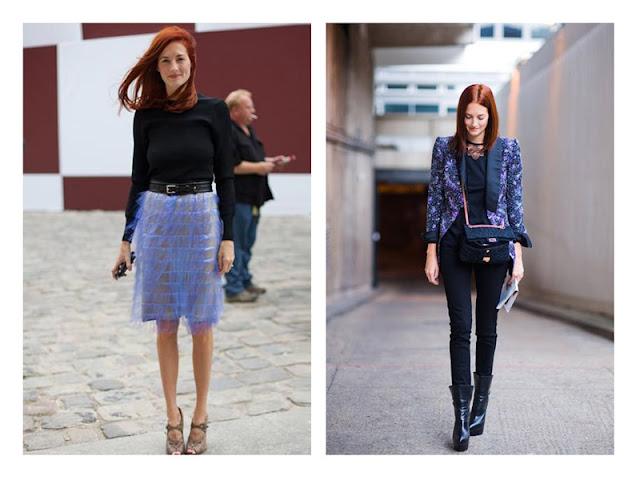 Акцентная юбка и жакет с базовыми вещами