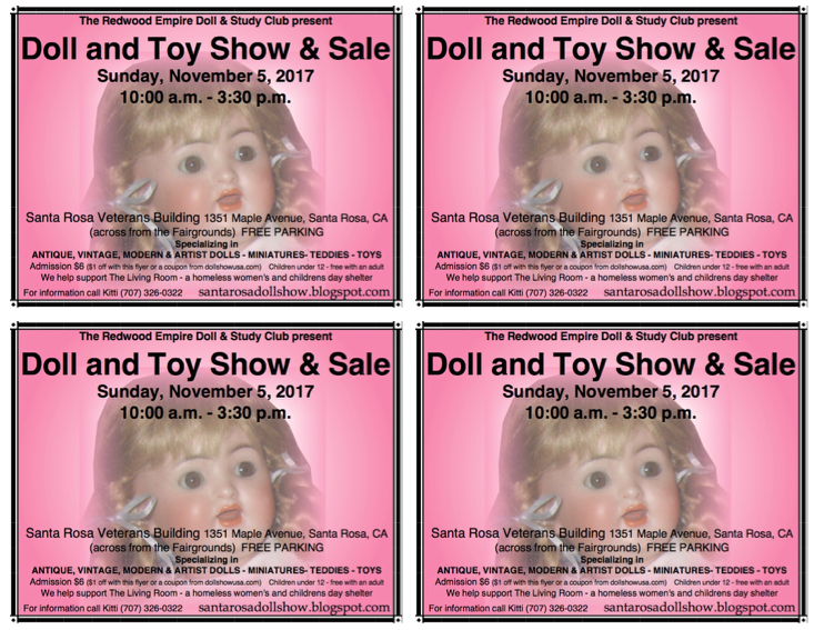 santa rosa doll and toy show 2017