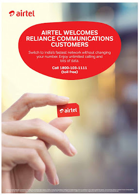 Airtel Attracting Reliance Communications Users