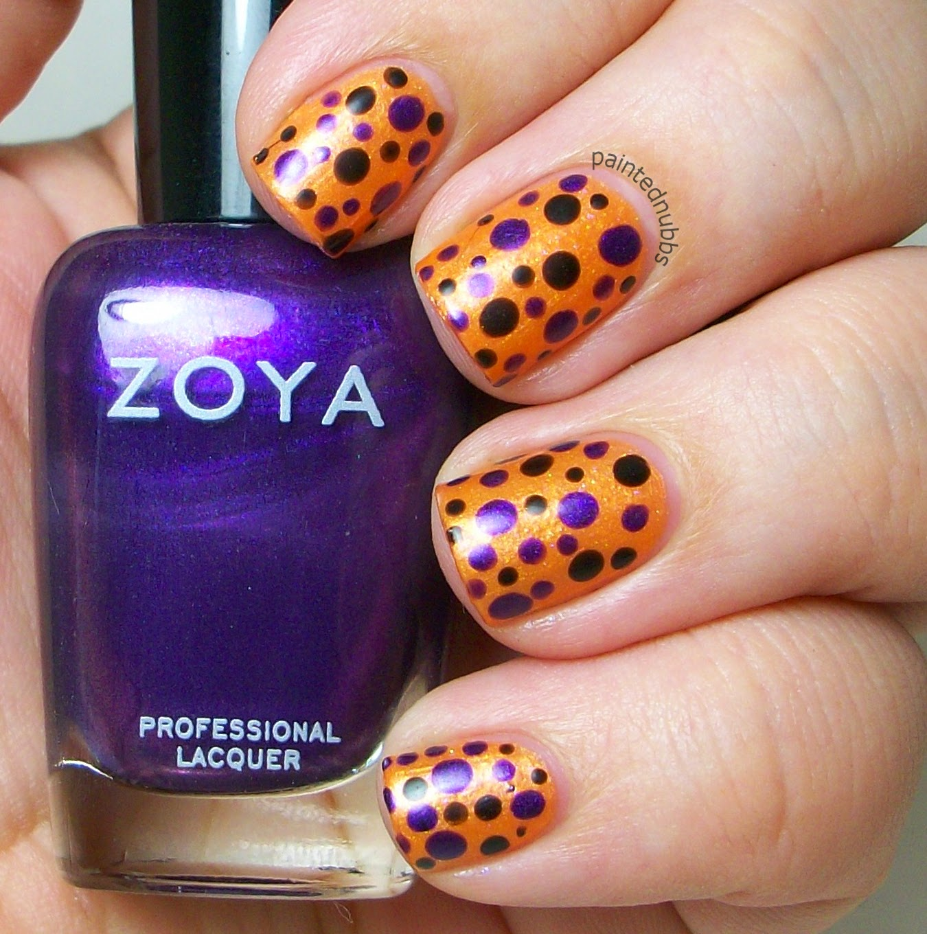 October Nail Art: Painted Nubbs: October 2014