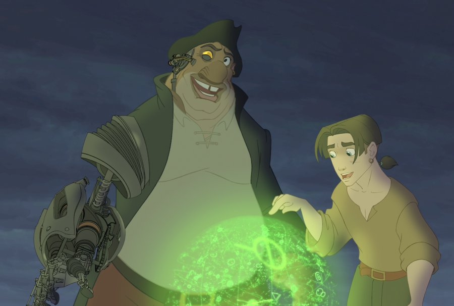 Silver, Jim, map Treasure Planet 2002 animatedfilmreviews.filminspector.com