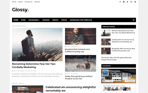 Glossy Clean Free Blogger Template