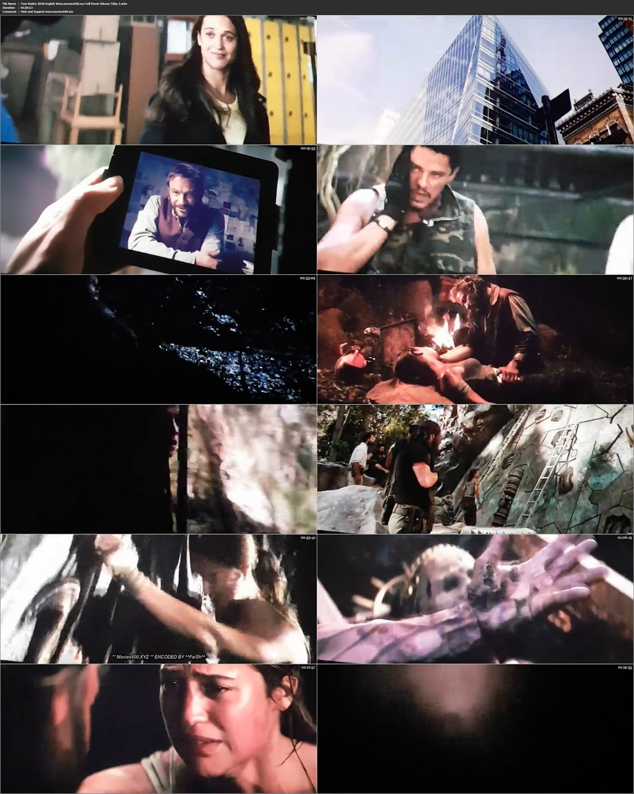 Tomb Raider 2018 Hollywood Full Movie 300MB HDCAM 480p at movies500.info