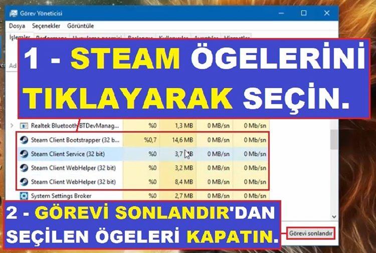 Steam Açılmıyor