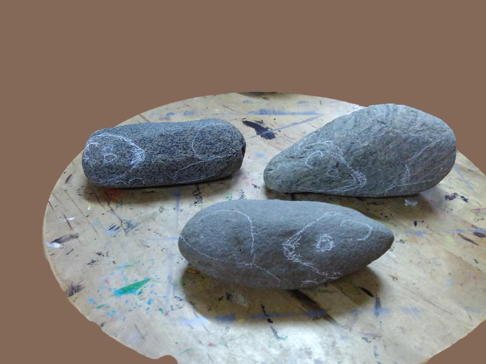 Piedras pintadas a mano como pintar piedras con hurones for Como pintar imitacion piedra