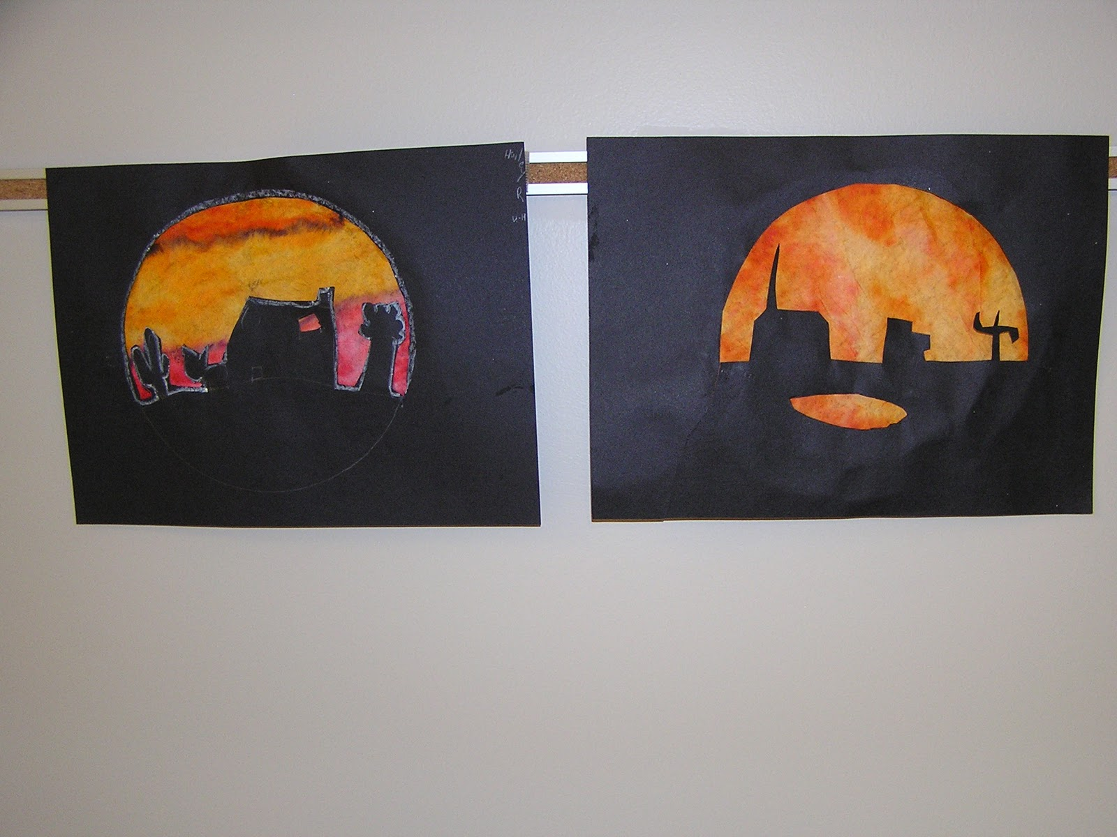 B Art: B Art Z- Elementary Art: 4th Grade Silhouettes