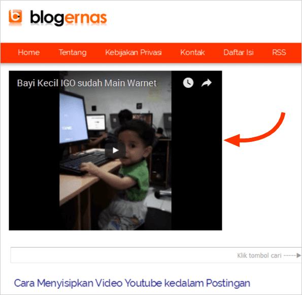 Cara Menampilkan Video YouTube diatas Postingan