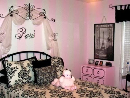 Cuarto color negro y rosa