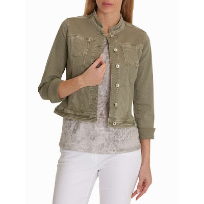 Betty Barclary Denim Jacket oak green