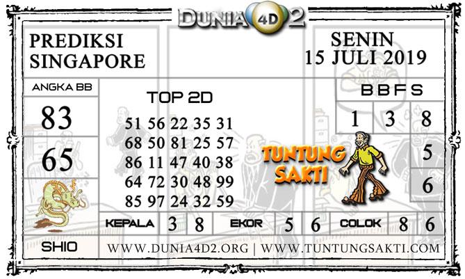 """Prediksi Togel """"SINGAPORE"""" DUNIA4D2 15 JULI 2019"""