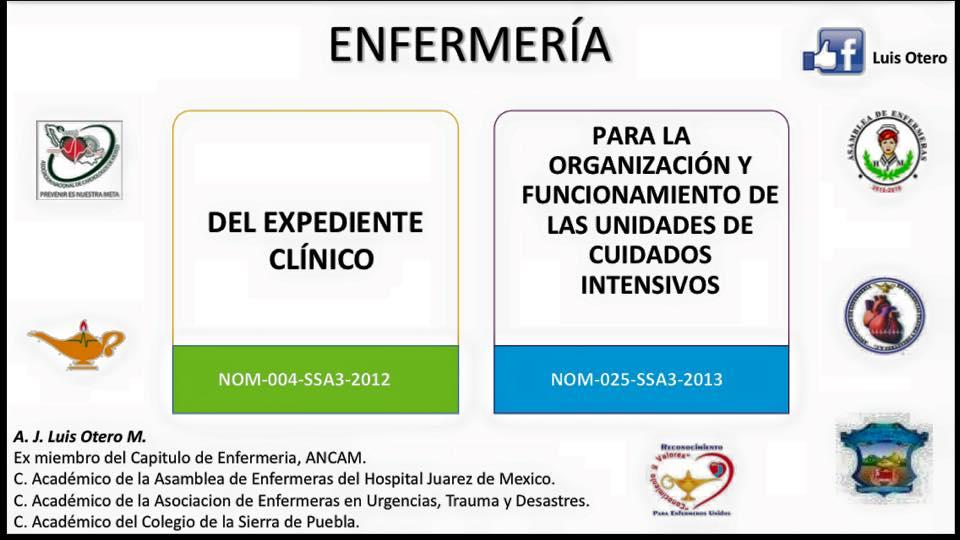 Enfermeros de Corazón: Las 30 Normas Oficiales Mexicanas NOM
