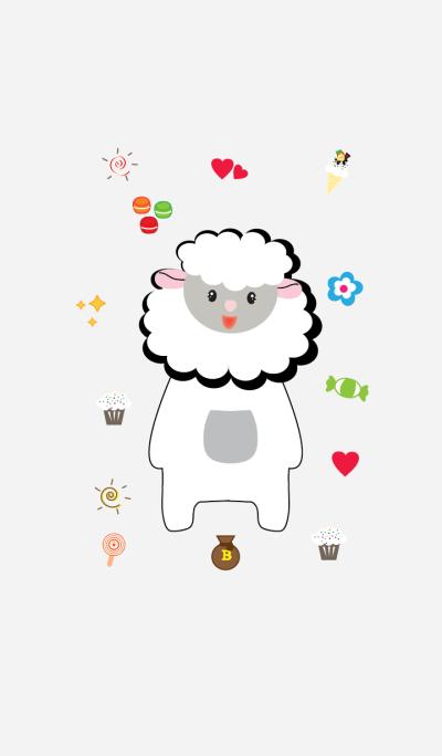 Cute sheep theme vr.4