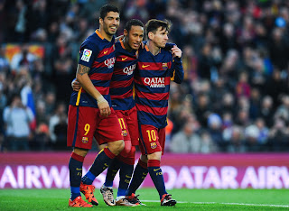 Pictures Messi and  Neymar and Suarez 2016