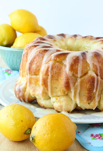 Recipes: glazed lemon monkey bread {10 Lovely Lemon Desserts by Cool Chic Style Fashion}