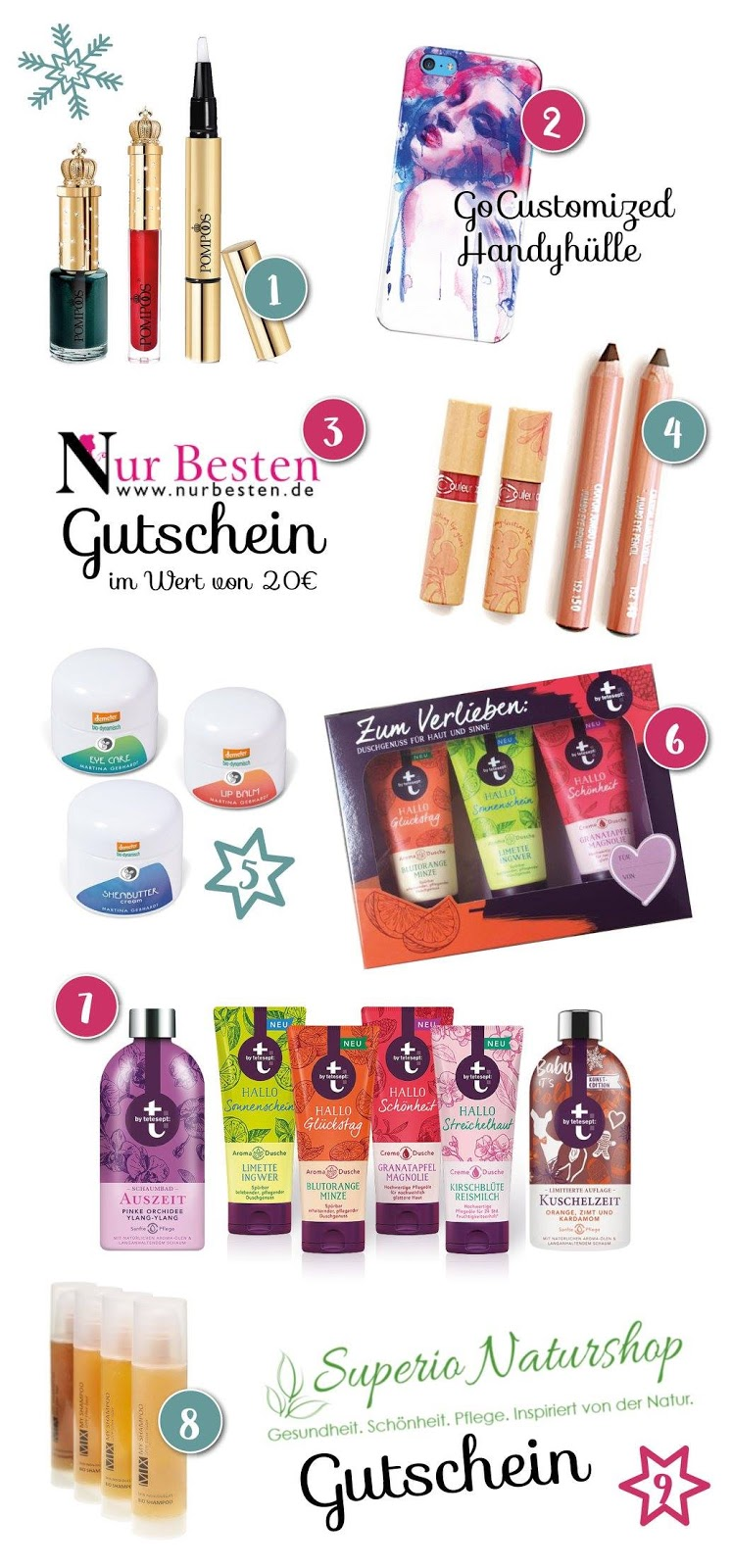 Beautyjunkies Blogger Adventskalender 2016 Gewinnuebersicht