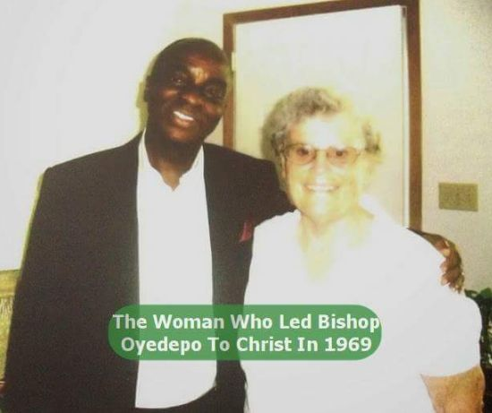 Bishop David Oyedepo with Betty Lasher