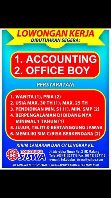 Lowongan Kerja Malang - Batu Juni 2015 330aad7d75