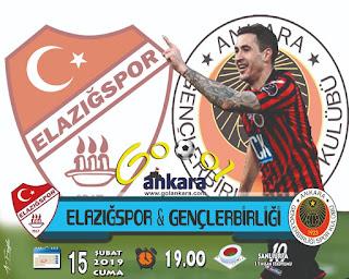 Elaziğspor - Gençlerbirliği Canli Maç İzle 15 Şubat 2019