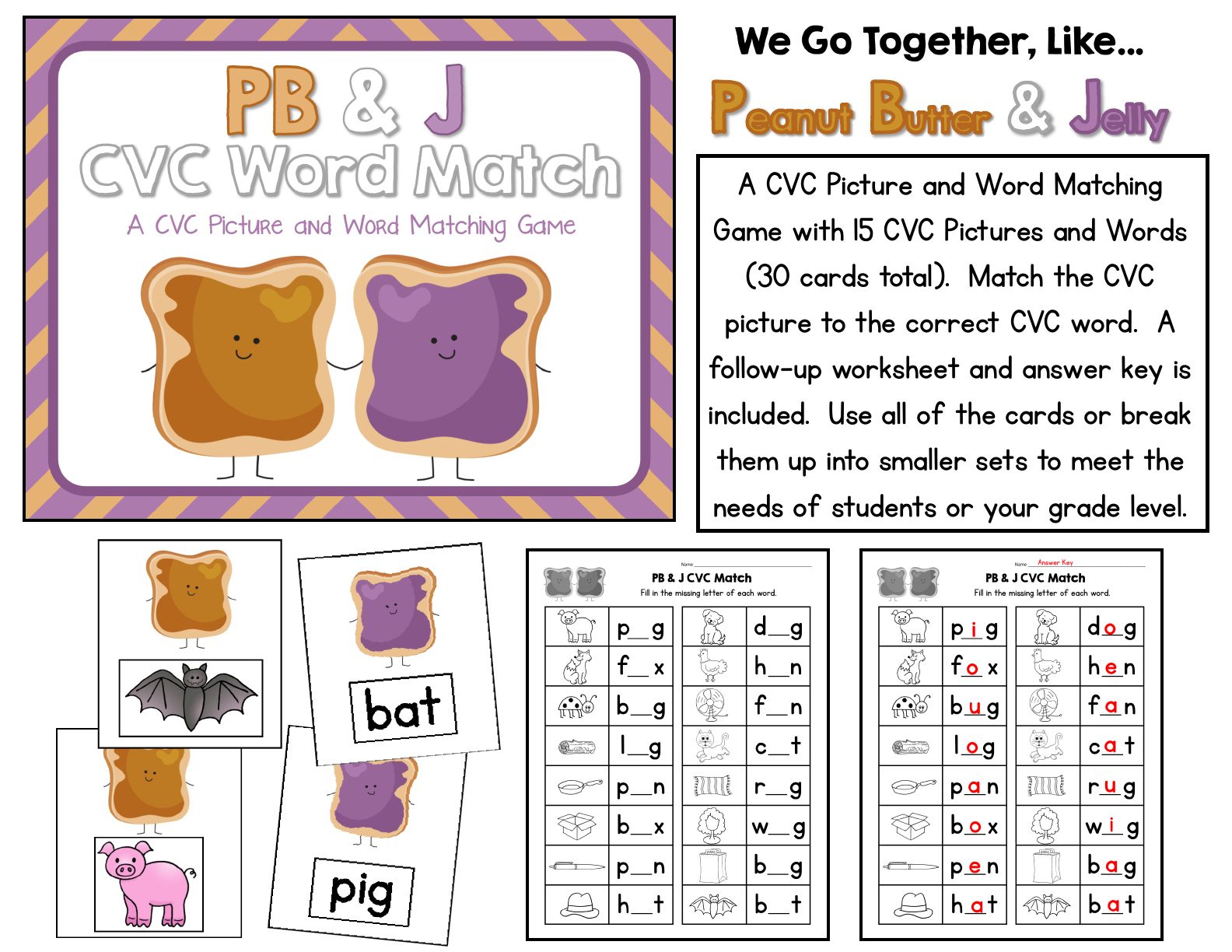 An Amazing Bundle Letter Sounds Cvc Words Rhyming Upper Lowercase Letters Color Words