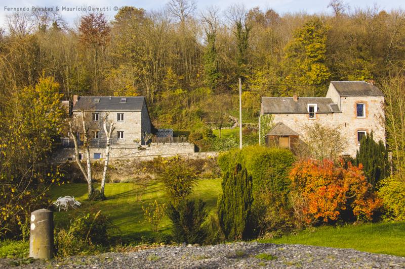 vista de casas e natureza em Celles