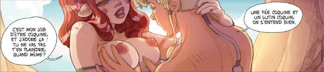 Ailina la fée coquine et Amandil le lutin coquin
