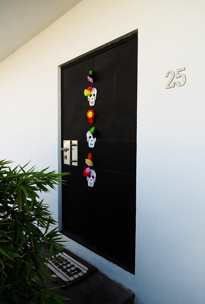 DIY calavera skull decoration