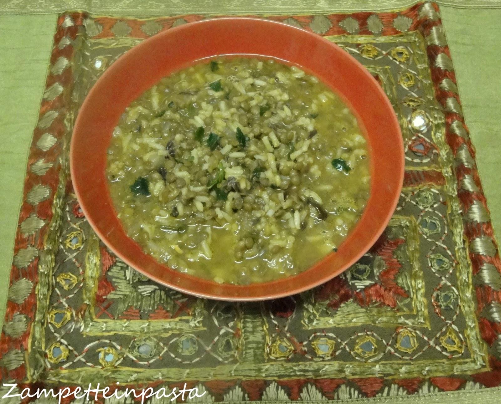Zuppa di lenticchie alle spezie con riso semintegrale for Lenticchie d acqua