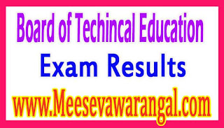 Board of Techincal Education PG Diploma in e-Governance May 2016 Exam Results