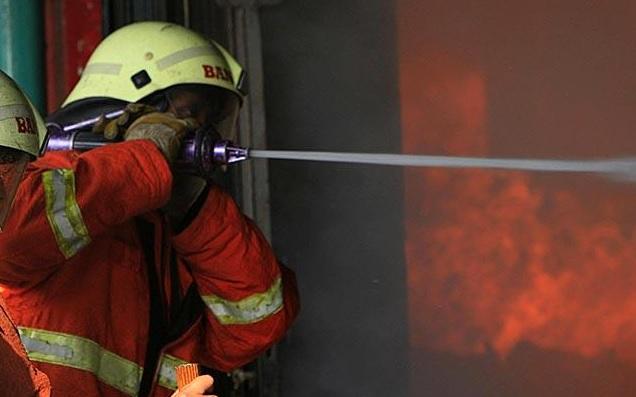 Cuma Diserang Dua Orang, Polres Dharmasraya Padang Ludes Terbakar