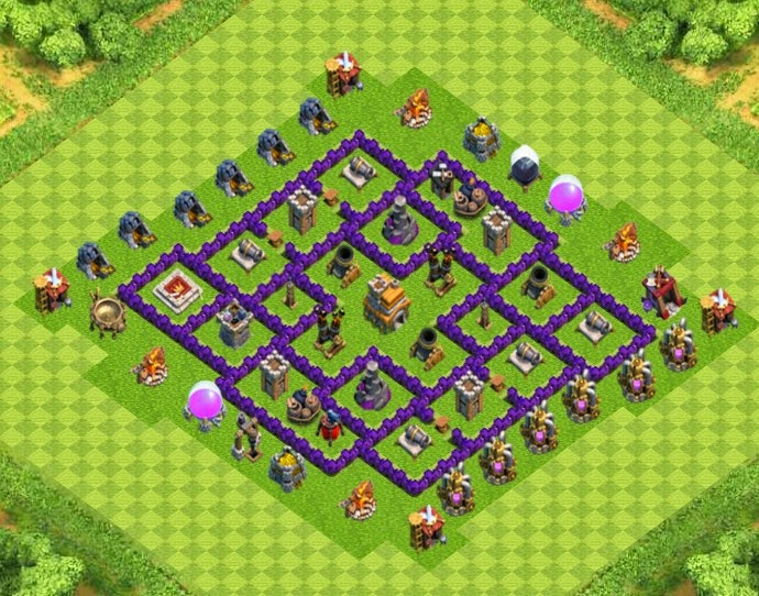 clash of clans best defense town hall 7