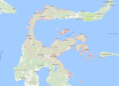 Peta Wilayah Provinsi Sulawesi Tengah