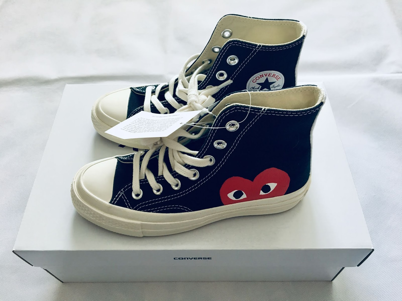 eafe30234823 Comme des Garcons Play x Converse Chuck Taylor 70 High Sneakers