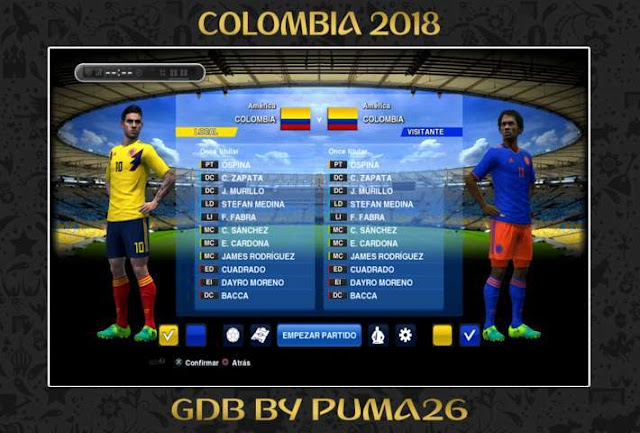 Colombia 2018 Kit PES 2013