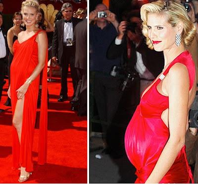 Heidi+Klum - Convidadas grávidas