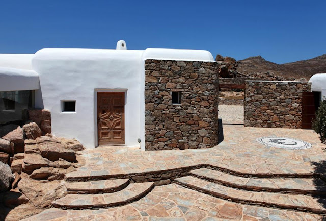 Traditional Greek house on Mykonos island