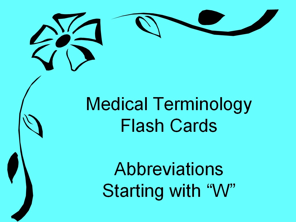 student survive 2 thrive medical terminology abbreviations starting