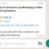 Be careful This WhatsApp Video Scam url Being Circulated