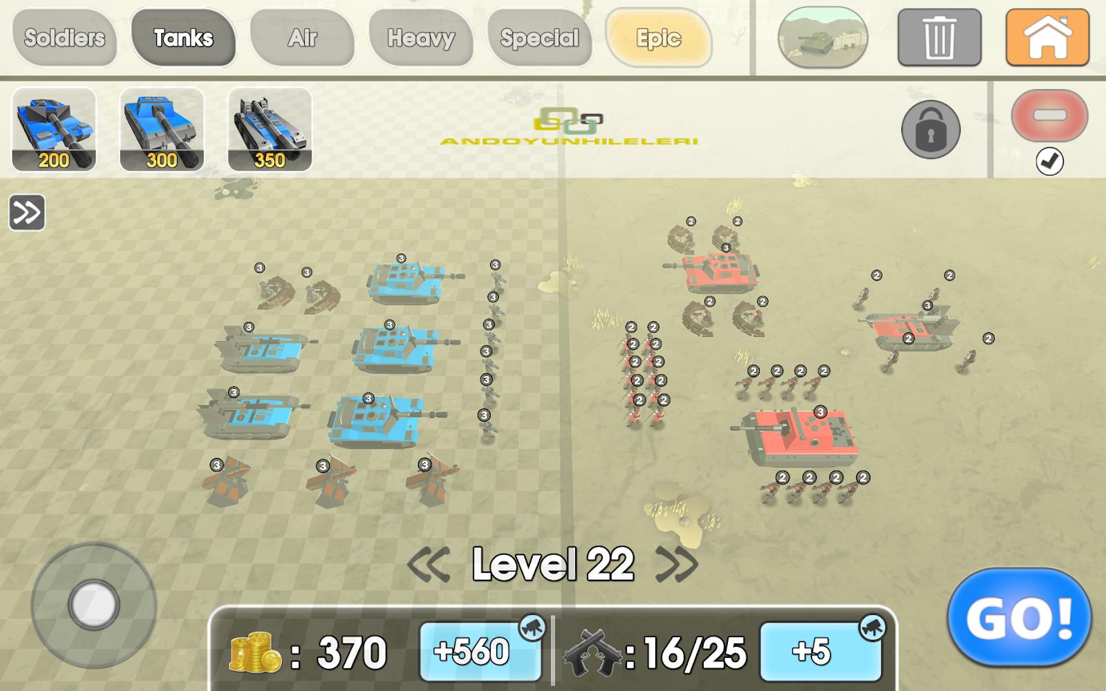 Army Battle Simulator v1.2.50 Elmas Hileli