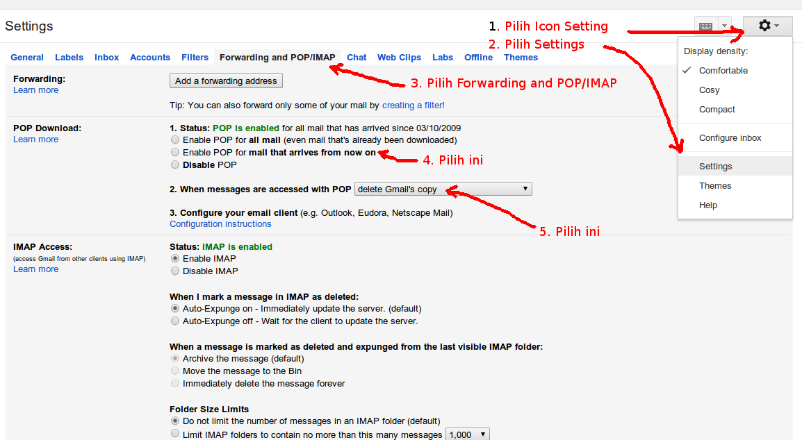 Cara Menyetting Mozilla Thunderbird Untuk Gmail