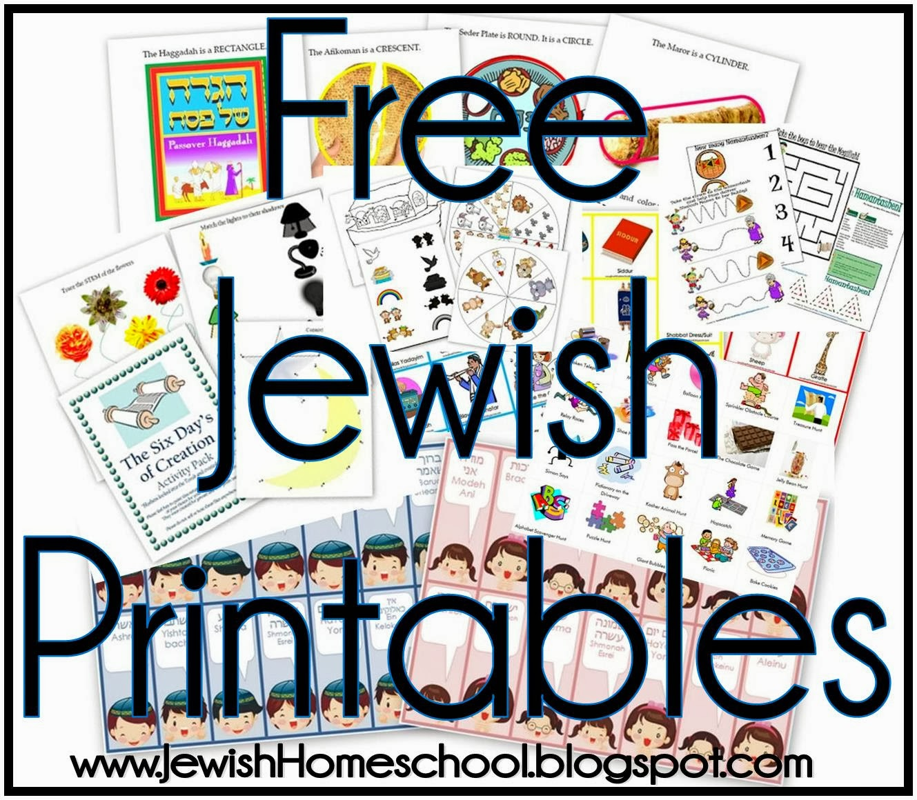 A Jewish Homeschool Blog Jewish Preschool Activity Worksheets