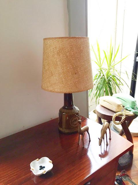 cerâmica alemã, candeeiro de mesa, vintage, decoração vintage