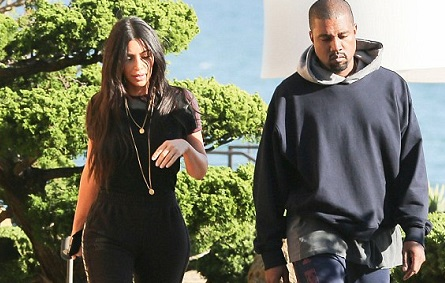 kim and kanye leaving calabasas