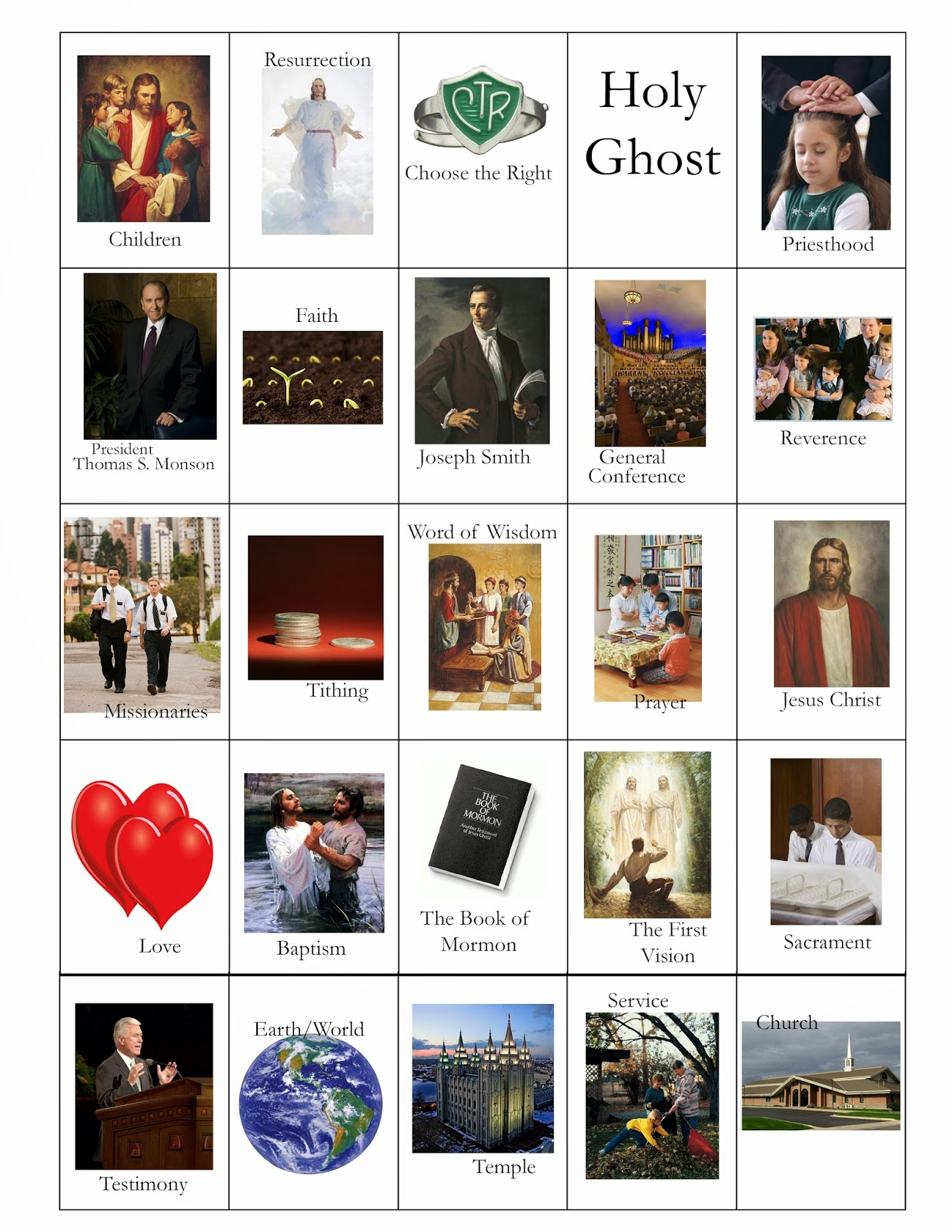 LDS General Conference Bingo Cards! Free Printables!
